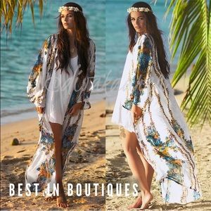 Other - TRENDY Beach Cover Up Kimono HOST PICK